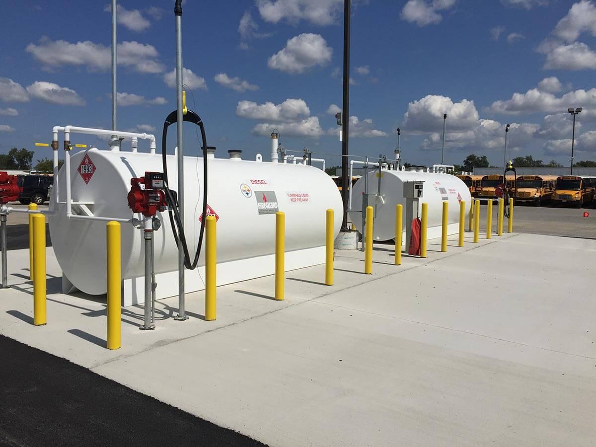 above ground fuel storage tanks